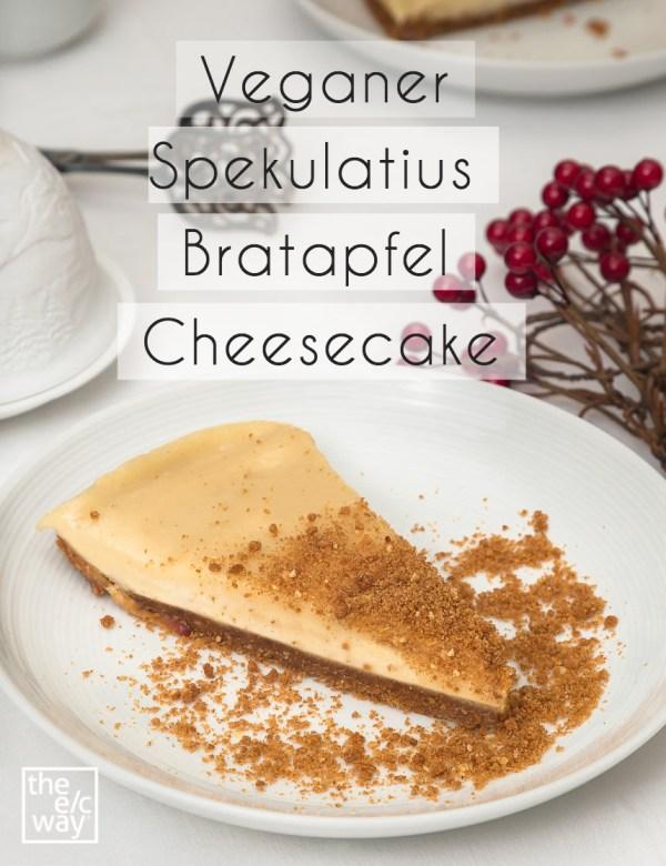Veganer Spekulatius Bratapfel Cheesecake