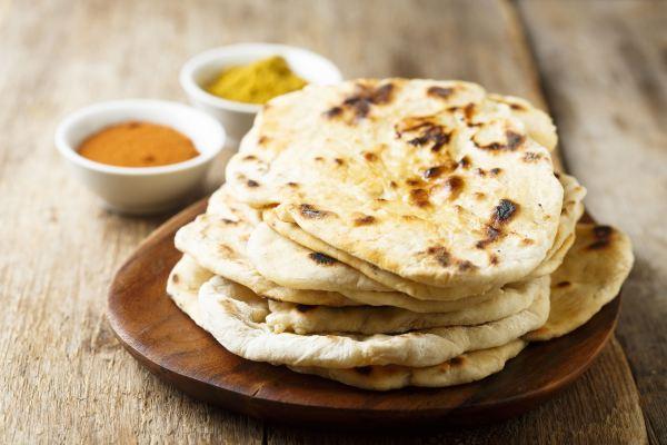 Veganes Naan-Brot aus der indischen Küche