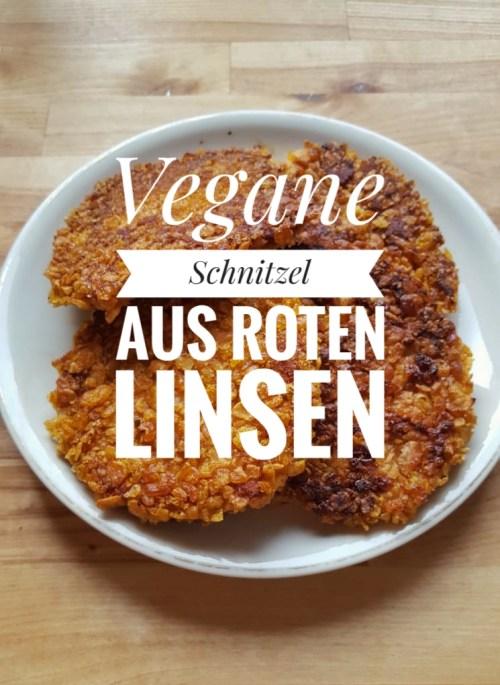 Vegane Linsenschnitzel aus roten Linsen