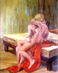 הנשיקה שמן על בד 50-60