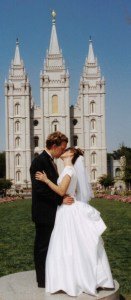 Couple at Salt Lake Temple