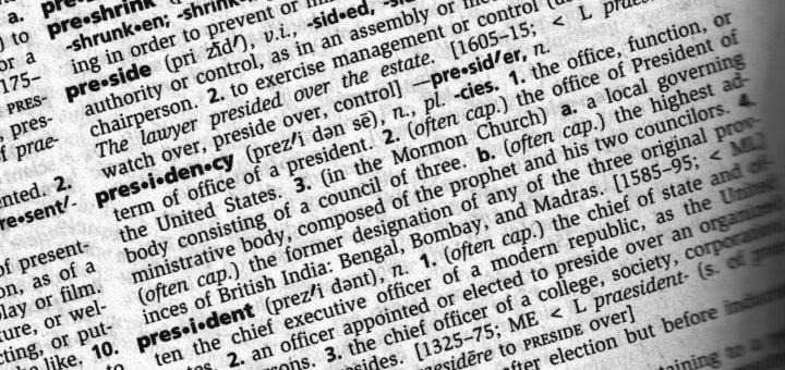 dictionary definition of preside