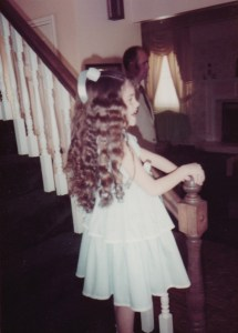 In my confirmation dress, the day after my baptism