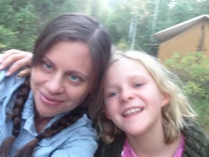 My Daughter and I at Girl Scout Camp