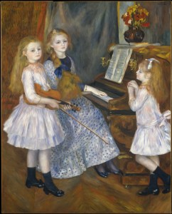 The Daughters of Catulle Mendès, Huguette (1871–1964), Claudine (1876–1937), and Helyonne (1879–1955) by Auguste Renoir Courtesy of MET