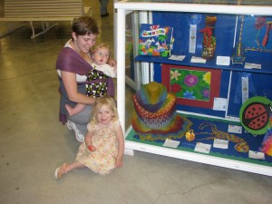 My Rainbow shawl won honorable mention at the county fair in 2011.