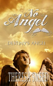 book cover, shows statue of angel