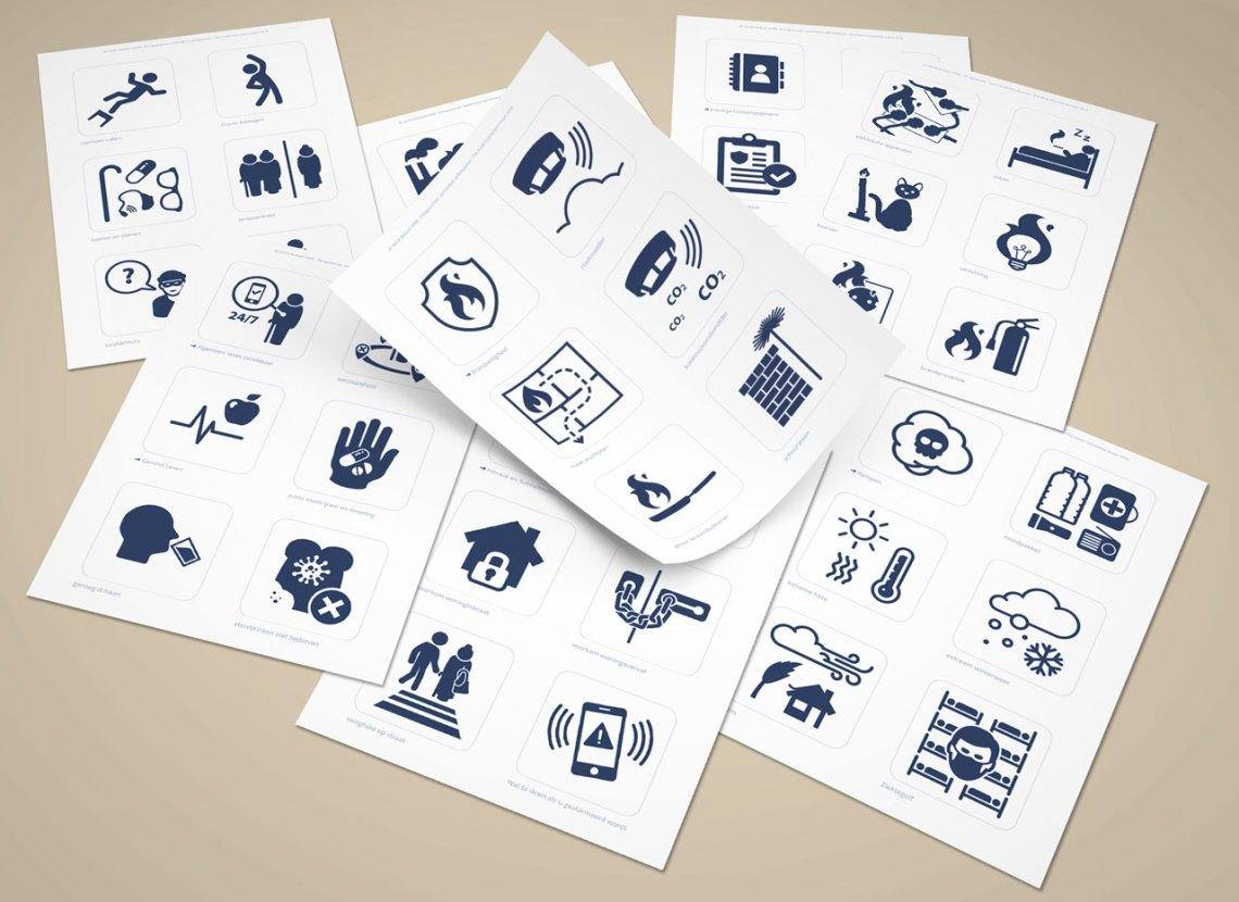 hulpbehoevenden pictogrammen ontwerper