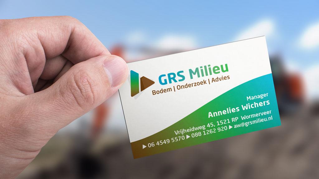 GRS milieu logo visitekaartje ontwerpen