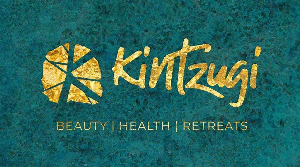 Kintzugi marble logo design