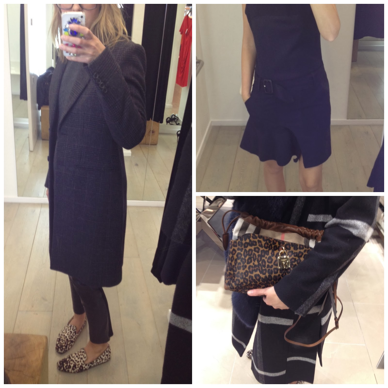 burberry purse outlet hgx2  Trying on outfits in Joseph and a Burberry bag bottom right, reduced from  拢795 to 拢556