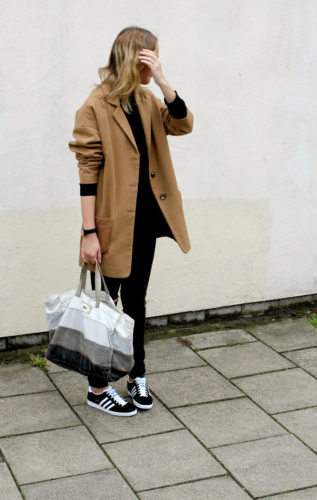 Outfit Post Black Denim And Gazelles - The Frugality Blog