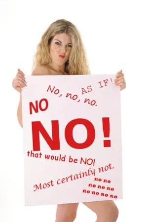 NO! © Andi Berger | Dreamstime.com