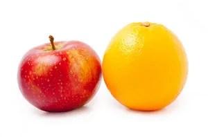 Apple and Orange © Szemeno | Dreamstime.com