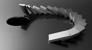 Falling dominoes © Violka08 | Dreamstime.com