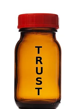 Empty bottle of trust © Yamix | Dreamstime.com