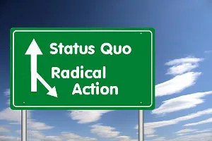 Status Quo or Radical Action? © Aleksiejwhite | Dreamstime.com