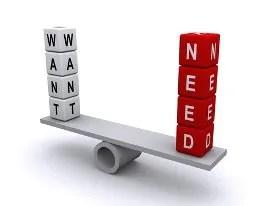 Want or Need? © Aydindurdu | Dreamstime.com
