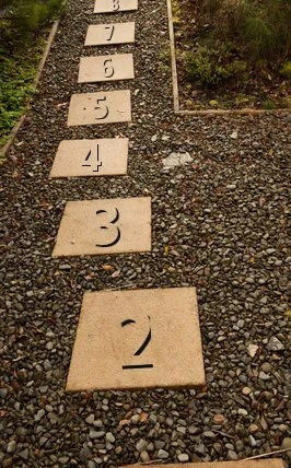 Numbered stepping stones © Peregrine   Dreamstime.com