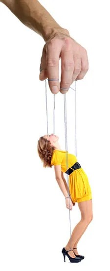 Man with wife as puppet © Igorr   Dreamstime.com