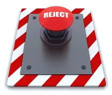 Reject Button © Kirsty Pargeter | Dreamstime.com