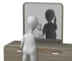 Looking in mirror © 3drenderings | Dreamstime.com