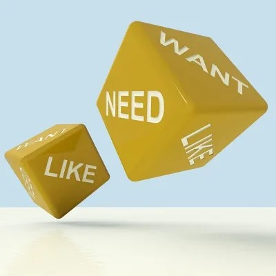 Wants, needs, likes | freedigitalphotos.net