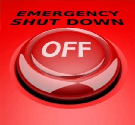 Emergency shut down button © Salvatore Vuono   freedigitalphotos.net