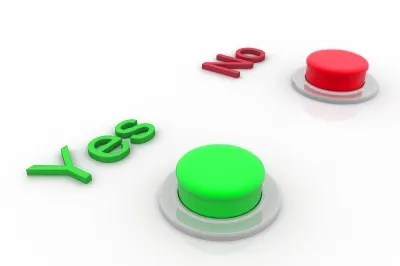 Yes and No buttons © cooldesign   freedigitalphotos.net