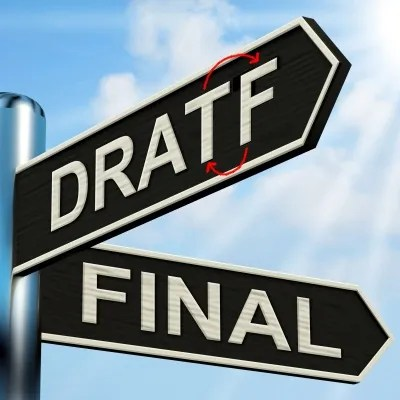 Draft and Final © Stuart Miles   freedigitalphotos.net