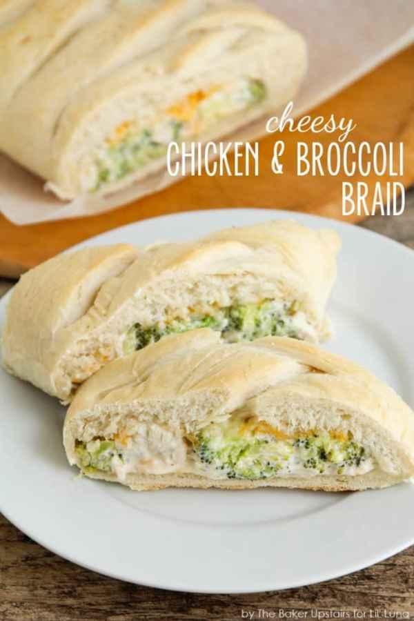 Cheesy Chicken Broccoli Braid - Lil Luna