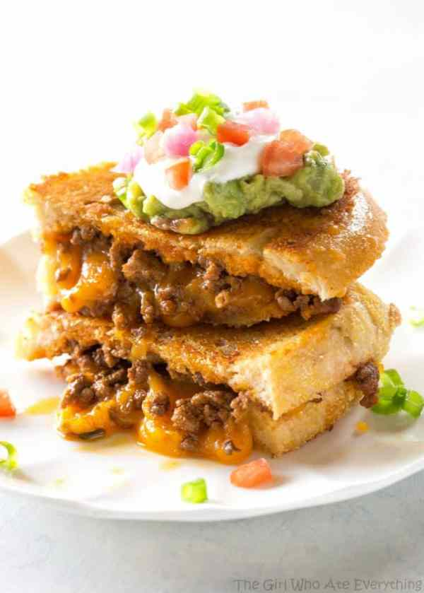 Taco Grilled Cheese - the ultimate indulgence for adults and kids.