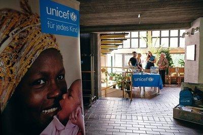 Eingang zum UNICEF Benefizkonzert am 23.06.2019