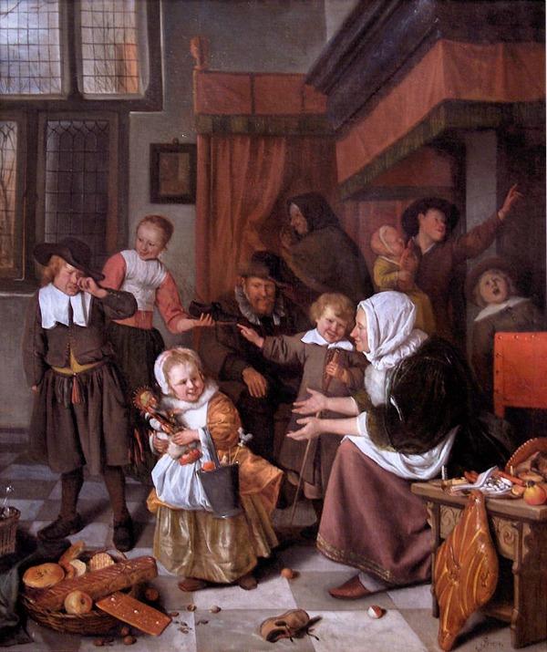 Jan Steen Het Sinterklaasfeest
