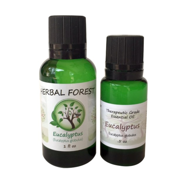 image of Herbal Forest eucalyptus essential oil 1 oz and .5 oz