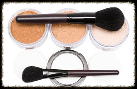 image of mineral cosmetics with brushes
