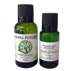 image of Herbal Forest sweet orange essential oil 1 oz and .5 oz