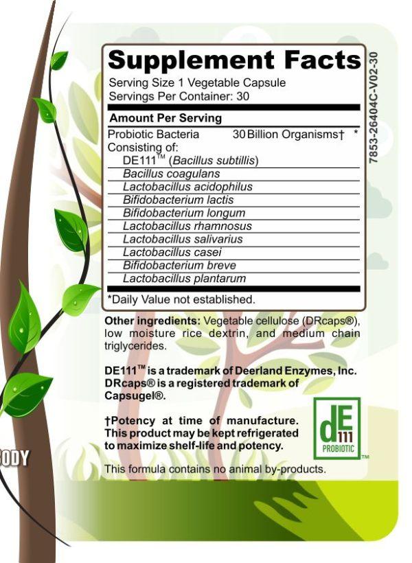 Herbal Forest 30 billion biotic ingredients list
