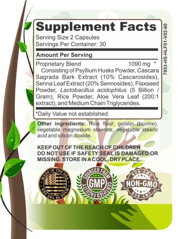image of herbal forest herbal digestive cleanse ingredients