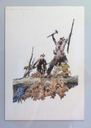 Una tavola di indiani di Dino Battaglia