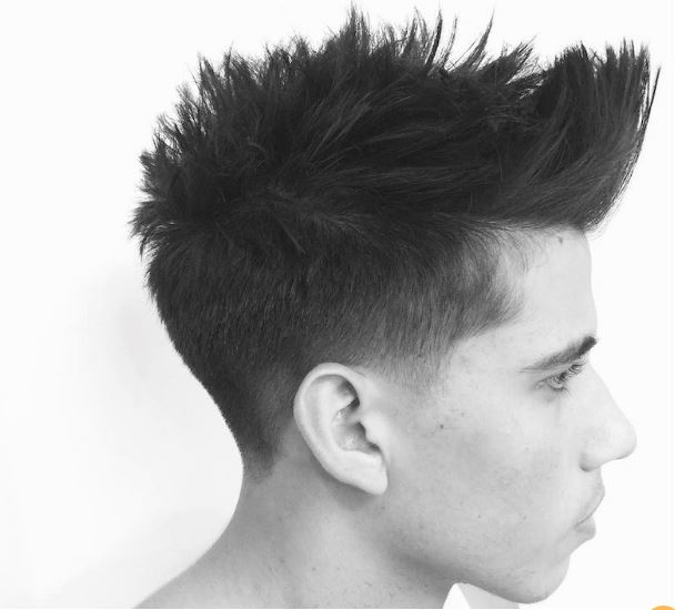 short sides and hair with texture