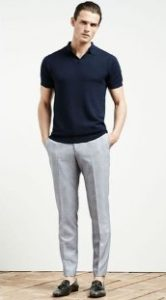 tailored παντελόνι με μπλε T-shirt polo