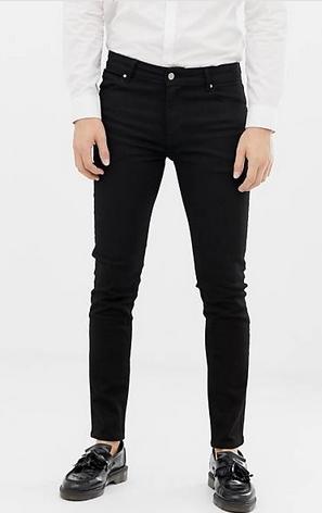 skinny μαύρο ανδρικό τζιν