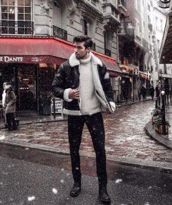 μαύρο παντελόνι άσπρο ζιβάγκο μπλουζάκι