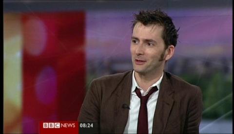 David Tennant on BBC News
