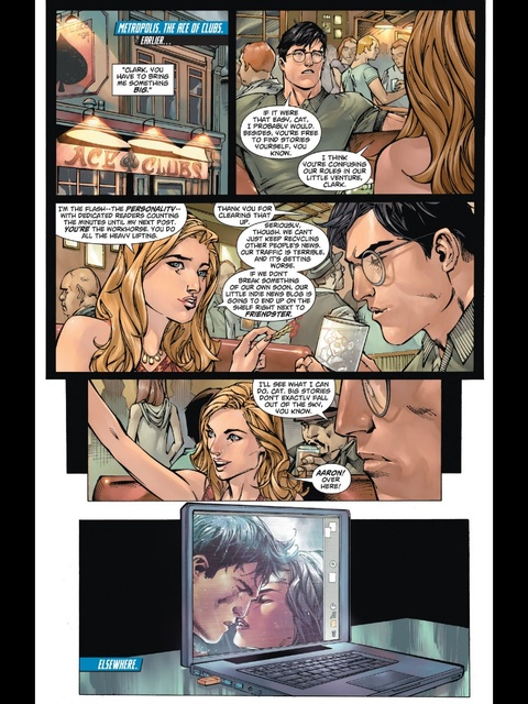 Clark Kent and Cat Grant