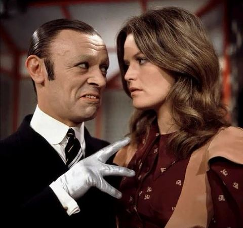 Russell Hunter as Mr Stabs, with Judy Loe as Lulli in Ace of Wands