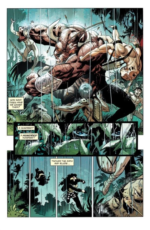 Wonder Woman protects some Amazonians