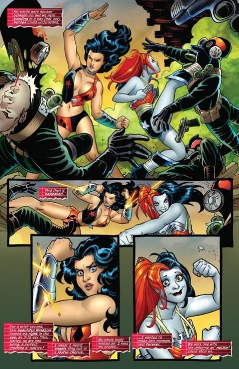 Wonder Woman does bullet and bracelets