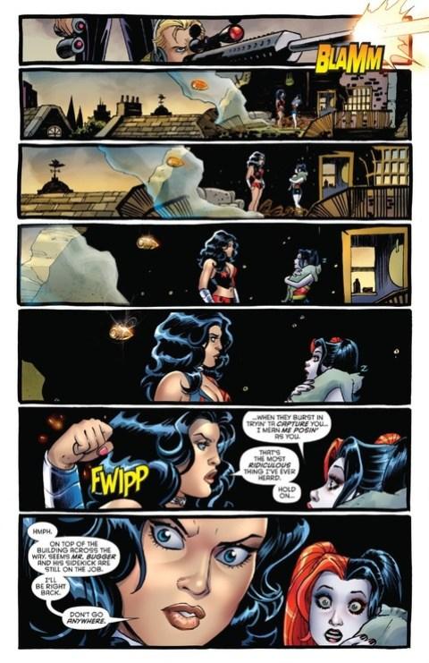 Wonder Woman catches a bullet